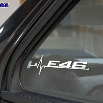 2pcs/lot M power performance E28 E30 E34 E36 E39 E46 E60 E61 E62 E90 E91 E92 LOGO car windows sticker for BMW