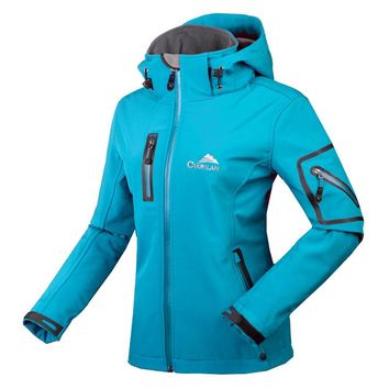 2017 Autumn Windstopper Water Resistant Soft Shell Breathable Trekking Outdoors Jacket Women Softshell Coat Chaquetas Mujer