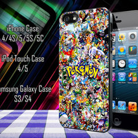 All Pokemon Considered Samsung Galaxy S3/ S4 case, iPhone 4/4S / 5/ 5s/ 5c case, iPod Touch 4 / 5 case