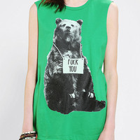 Urban Outfitters - Warpaint F*ck You Bear Muscle Tee