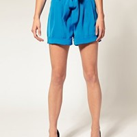 ASOS | ASOS Paper Bag Waist Longer Length Short at ASOS