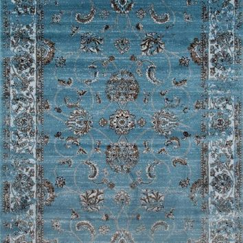 3545 Blue Distressed Oriental Area Rugs