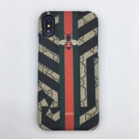 gucci fashion print embroidery iphone phone cover case for iphone x-2