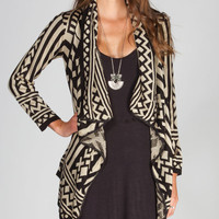Full Tilt Native Womens Wrap Black Combo  In Sizes