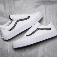 Vans Old Skool Leather Zipper Sneakers Sport Shoes