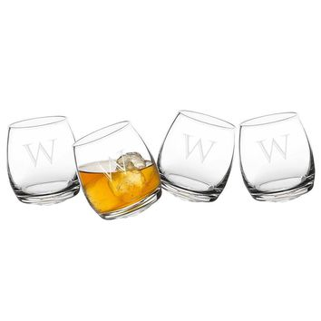 Personalized Tipsy Whiskey Glasses
