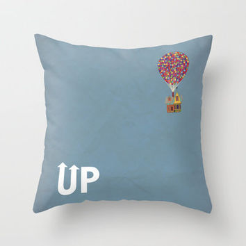 Disney Pixar's Up ~ A Minimalist Poster Throw Pillow by Bluebird Design | Society6