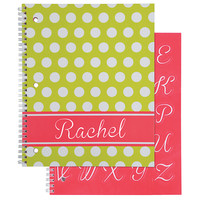 Office Depot Brand Fashion Notebook Personalized Dot 8 12 x 10 12 College Ruled 160 Pages 80 Sheets LimeWhite by Office Depot