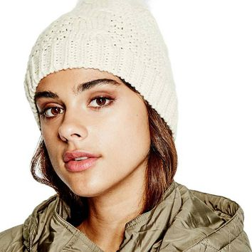 Cady Pom Beanie at Guess