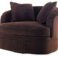 One Kings Lane - Made in America - Swivel Oversize Lounge Chair