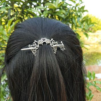 10PCS Viking Dragon Hair Sticks Celtics Knotwork Hairpin Hair Jewelry Cetilcs Hair Jewelry