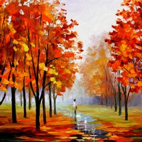 PINK FOG 1 — PALETTE KNIFE Oil Painting On Canvas By Leonid Afremov - Size 40x30. use 10% discount coupon - deviantart10off
