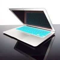 """TopCase AQUA BLUE Keyboard Silicone Cover Skin for Macbook AIR 13"""" A1369 from Late 2010 - Mid 2011(JULY) with TOPCASE� Logo Mouse Pad"""