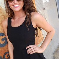 Simple Black Peplum | The Rage