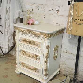 Painted Cottage Shabby Romantic Night Table NT800