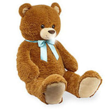 Toys R Us Animal Alley 42 inch Stuffed Bear with Bow - Brown