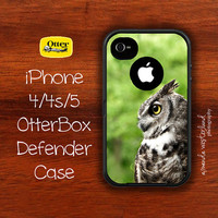 OtterBox Defender  iPhone 4 4s 5 Case  Great Horned by ANWPhoto