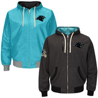 Carolina Panthers Tradition Reversible Fleece Full Zip Hoodie – Panther Blue/Black