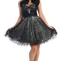 Special Sale!!! US Fairytailes Strapless Printed Dress Cocktail Gown Prom Holiday #2692