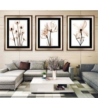 Modular Picture Art Oil Painting Home Decoration Canvas Simple Decorate Picture Print Frameless Flower  for Living Room Wall