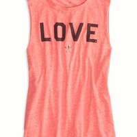 AEO Women's Love Graphic Muscle Tank (Coral Burst)