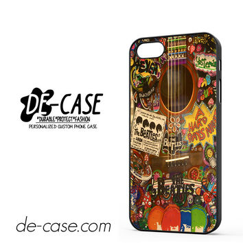 The Beatles Hippie Guitar For Iphone 5 Iphone 5S Case Phone Case Gift Present YO