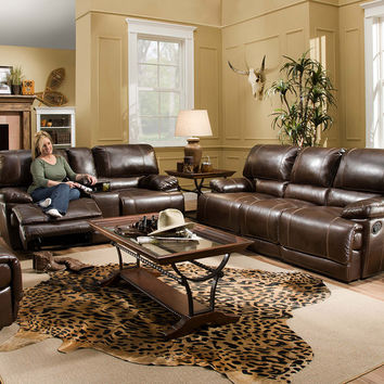 Corinthian Red River Reclining Sofa and Loveseat