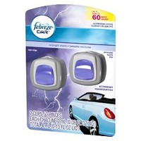 Febreze Car Midnight Storm Scent Air Freshener Vent Clips 2 count