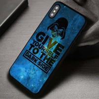 Dark side Darth Vader Quotes Star Wars - iPhone X 8+ 7 6s SE Cases & Covers #iPhoneX
