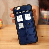 Doctor Who Tardis Police Box Soft TPU Skin Cell Phone Case For iPhone 6 6S Plus 7 7 Plus 5 5S 5C SE 4S Back Shell Case Cover