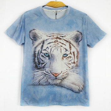 New Men T Shirts Printing Zombie 3D Games 3D Stereoscopic Animals Tight Short sleeved Assassins Creed Male T-Shirt NT3D002