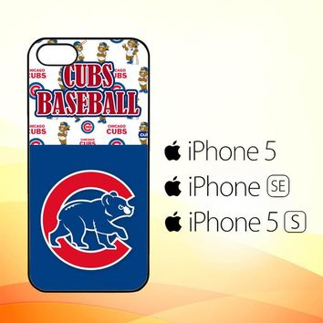 cubs baseball W3315  iPhone 5|5S|SE Case