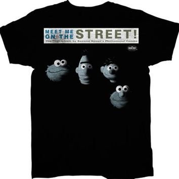 Sesame Street Meet Me on the Street Adult T-shirt