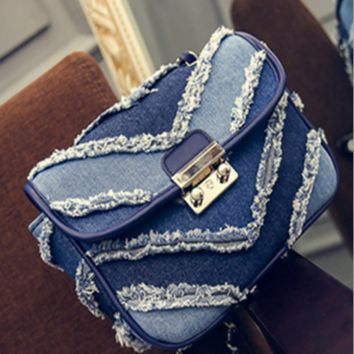 Fashion small bread chain cowboy one shoulder inclined shoulder bag
