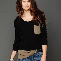 Free People - We The Free Double Time Thermal with High-low Hem