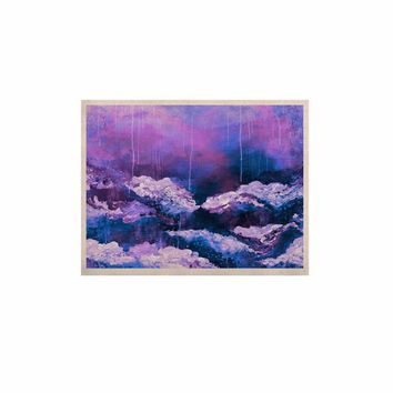 "Ebi Emporium ""It's A Rose Colored Life 7"" Purple Blue Painting KESS Naturals Canvas (Frame not Included)"