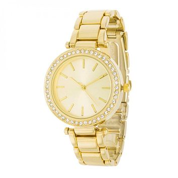 Gold Watch With Embezzled Dial