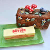 Woodland Butter Dish - Sculptural Dish that holds Butter- Made to Order