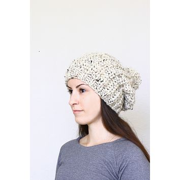 Octavia Hat -  slouchy hat pattern, knitting pattern, knitting tutorial in PDF