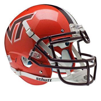 Virginia Tech Hokies NCAA Authentic Air XP Full Size Helmet (Alternate Orange w- Stripe 4)