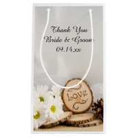 Rustic White Daisies Woodland Wedding Thank You
