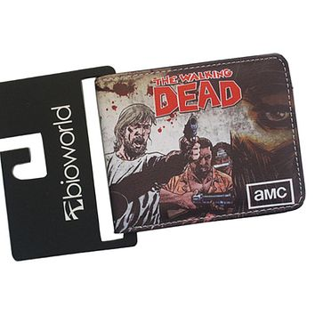 Ultra-slim Leather Cartoon Wallets Digital Printing Horror TV THE WALKING DEAD Purse Wallet For Teens Casual Color Wallet Walet