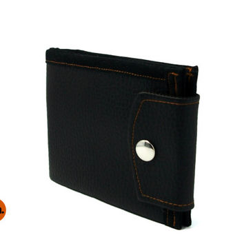 Vegan Wallet, Pure Black Wallet with Coin Pocket, Wallet for Man, for Woman with Coin Pocket, Card Holder UNUSUAL