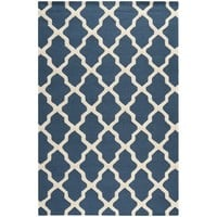 Safavieh Handmade Moroccan Cambridge Blue Wool Rug | Overstock.com Shopping - The Best Deals on 7x9 - 10x14 Rugs