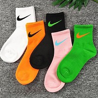 Loewe Nike Fashion Women Personality Breathable Sport Cotton Socks
