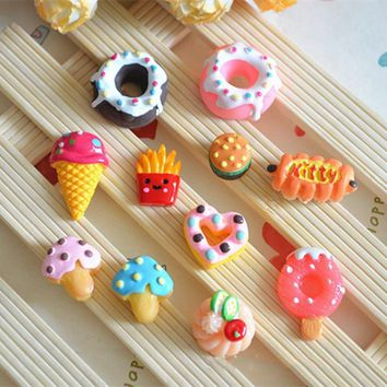 Kitchen Toys Dessert Donut Cupcake Play Miniature Food Toys Baby Early Education Food&Rilakkuma Squishy Squeeze Rising Toy