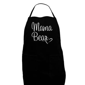 Mama Bear with Heart - Mom Design Dark Adult Apron