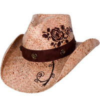 "Bullhide Hats ""Romantic Dream"" Raffia Straw Cowboy Hat"