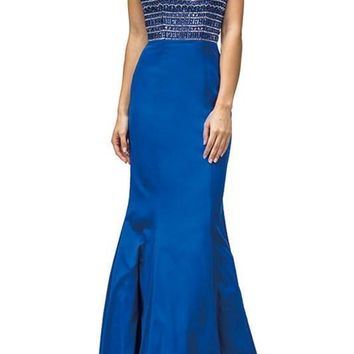 Mermaid Style High neck prom Dress  DQ9355