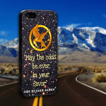 Mockingjay Hunger Game Quotes Sparkly Glitter Print - ArtCover - Hard Print Case iPhone 4/4s, 5, 5s, 5c and Samsung S3, S4